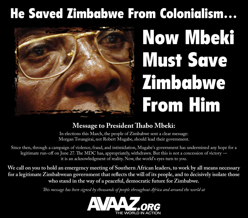 Save Zimbabwe from Mugabe