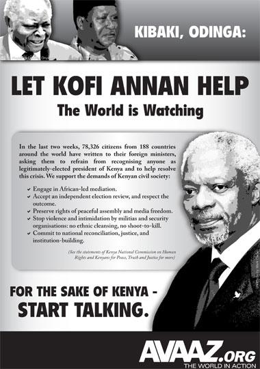 Kenya Crisis: Support Kofi Annan